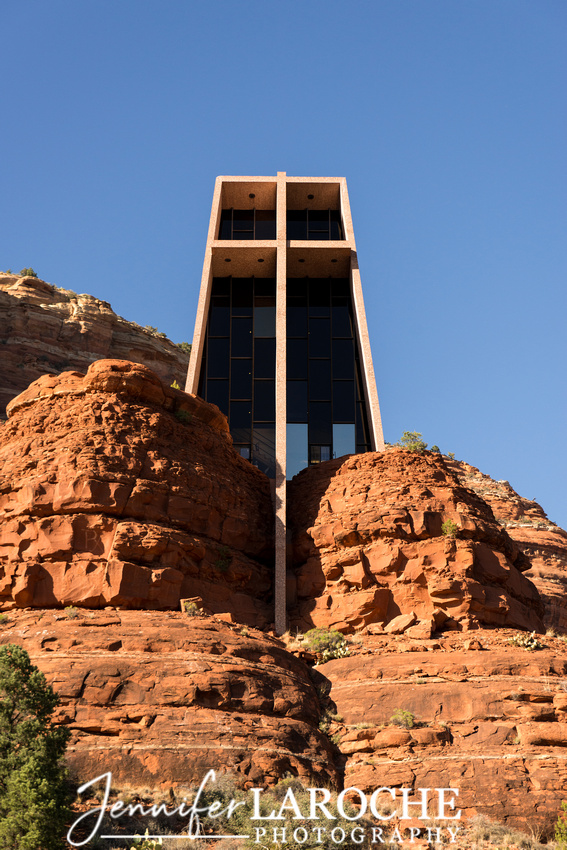 front exterior view of chapel of the holy cross sedona