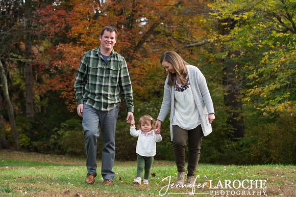 Fall Portrait Session with a Young Family of Three
