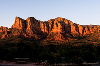horizontal image courthouse rock sedona at sunset