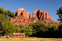 horizontal image cathedral rock at red rock crossing sedona arizona