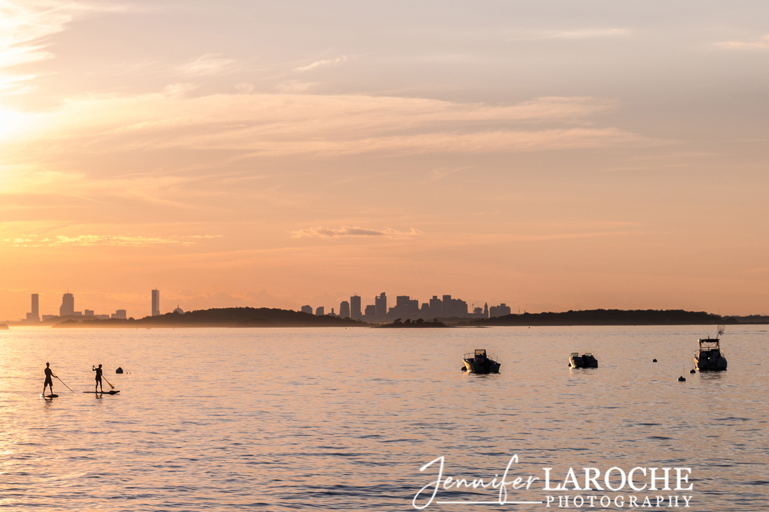 boston skyline photo from hingham yacht club
