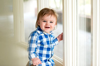 Boston Family Photographer Baby Boy in Window Light