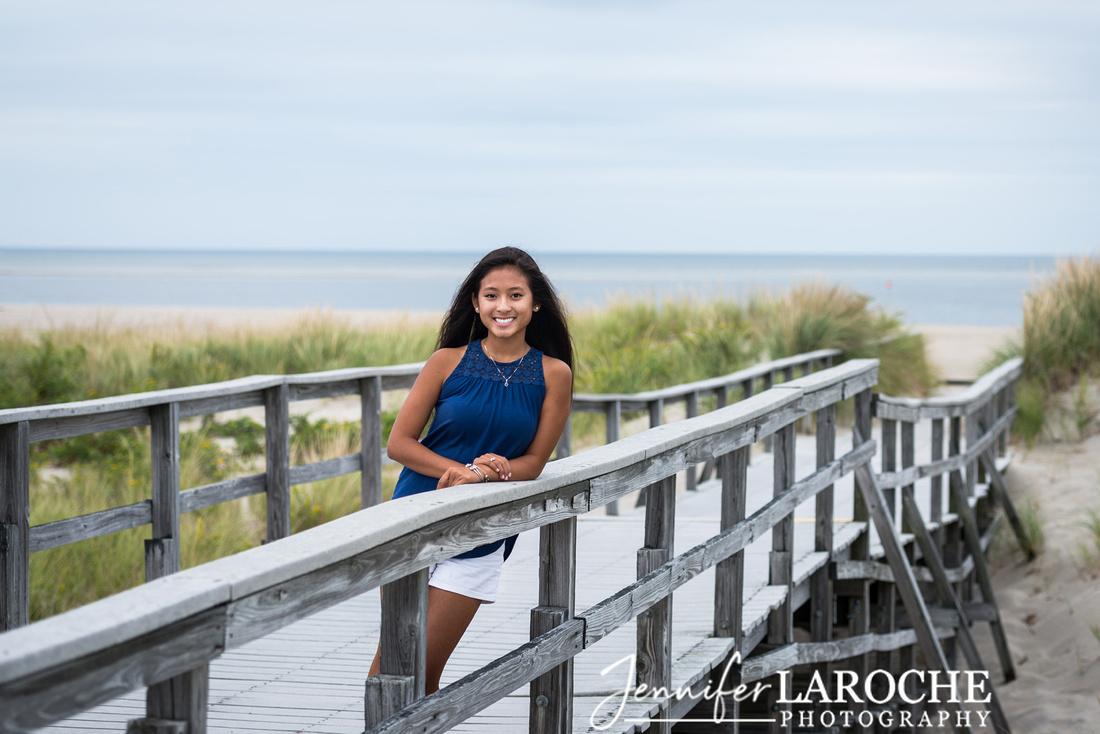 Crane-Beach-Boardwalk-Senior-Beach-Portrait-Photo-Session-Ipswich-Mass