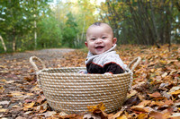 Baby Boy in a Basket Fall Portrait