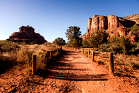 bell rock sedona trailhead path horizontal image