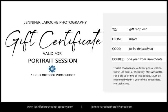 Portrait Session eGift Certificate
