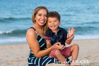 Scusset Beach portrait mom and son