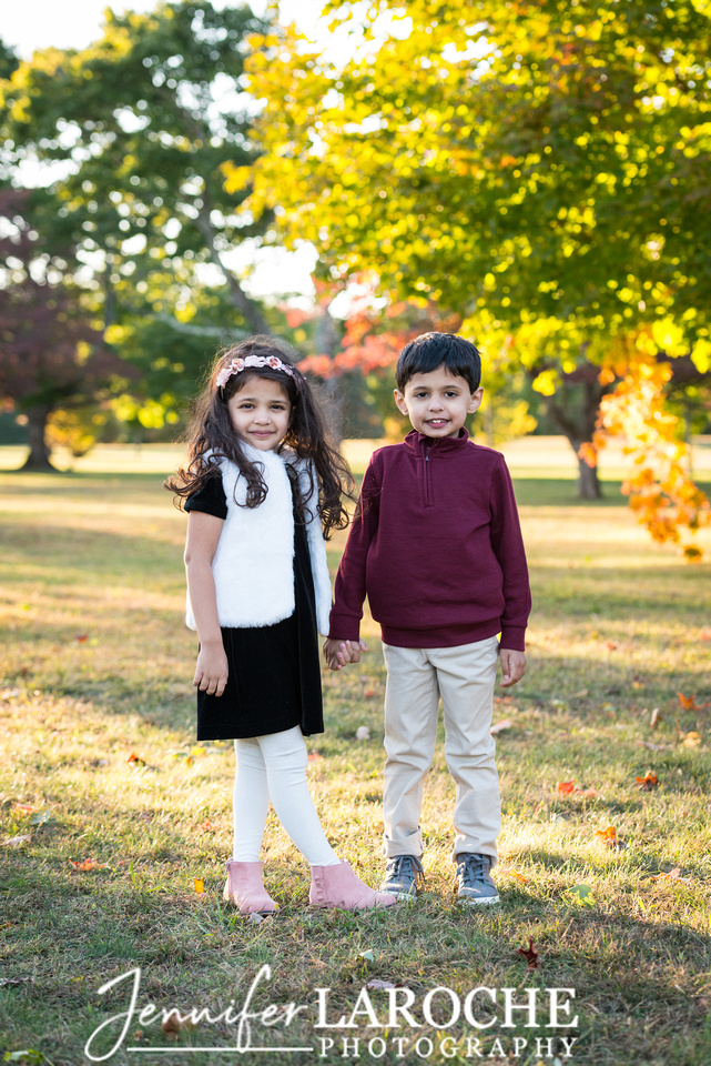 Fall Family Portrait Five Year Old Twins