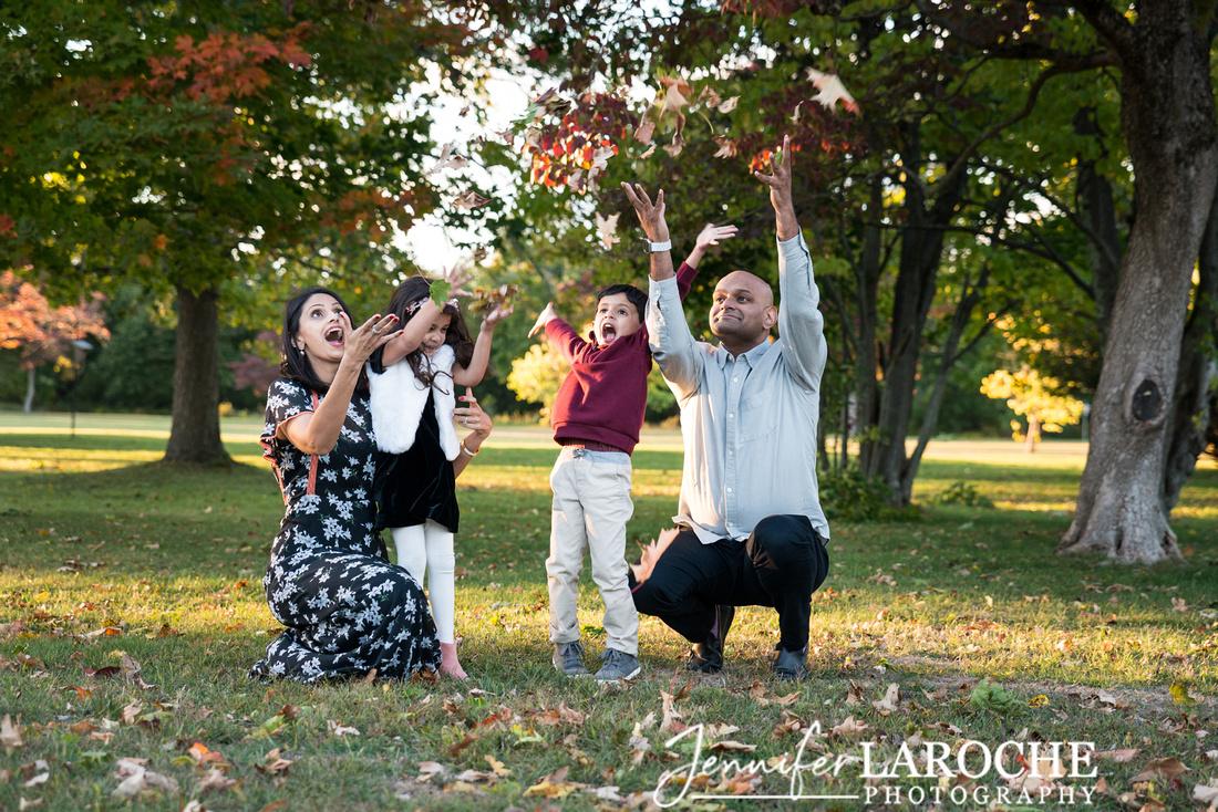 Family Leaf Toss