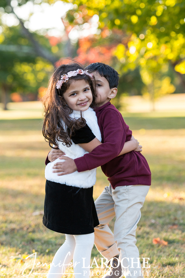 Sister Hugs Brother