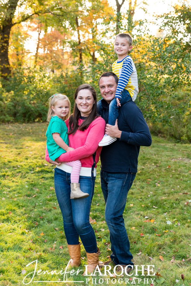 Fall Portrait Family of Four