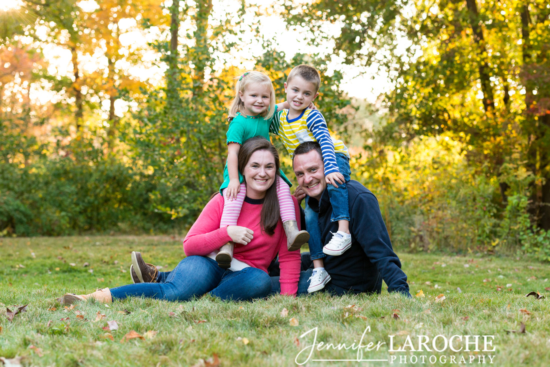 Casual Fall Family Portrait