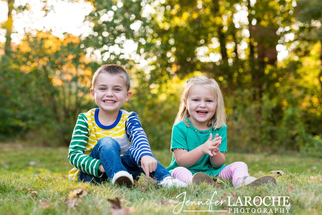 Siblings Laughing Portrait