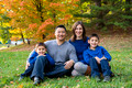 fall portrait sessions for families with Jennifer LaRoche Photography