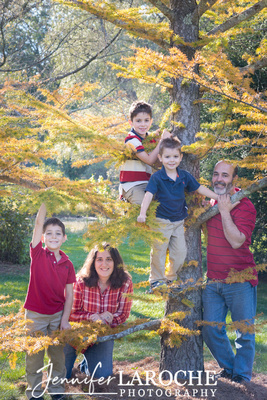 Family Fall Portraits Boston