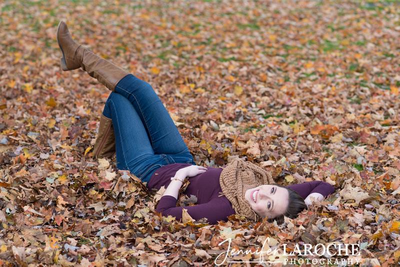 Fall Foliage Senior Portraits