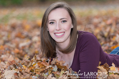 Fall Foliage Senior Portraits