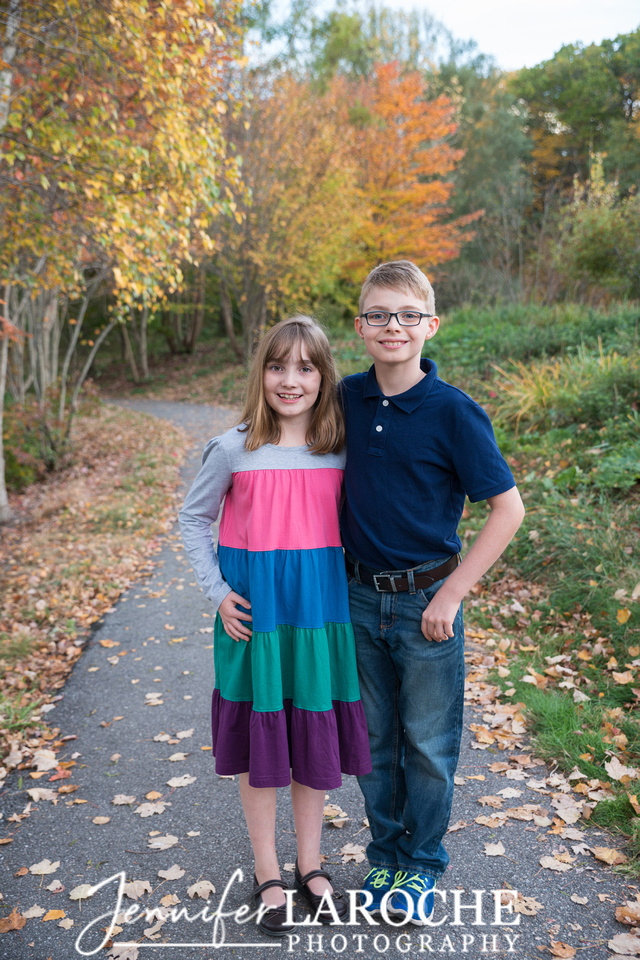 Family of Four Fall Portraits (5)