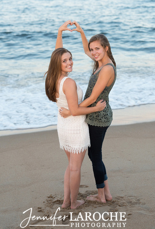 Senior portrait beach sessions with your best friend by Jennifer LaRoche Photography