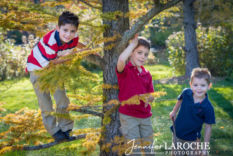 Family Fall Portraits Boston