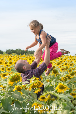 Family Portraits at Colby Farm Sunflower Field